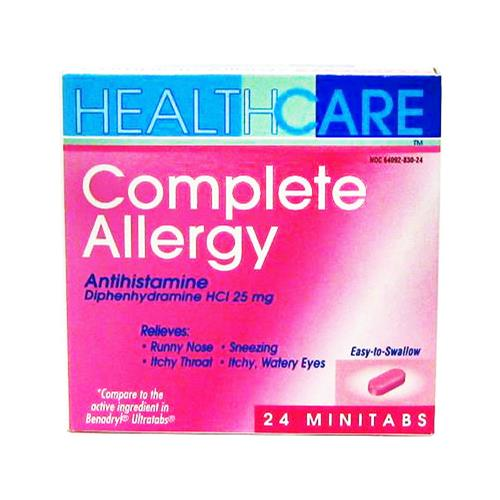 Wholesale Health Care Complete Allergy Tablets (Benadryl)