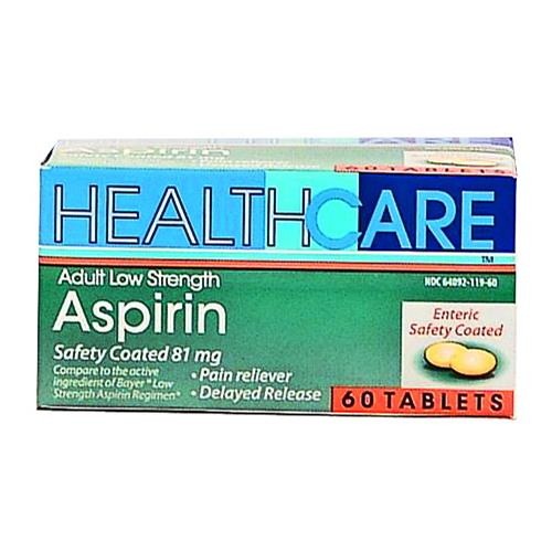 Wholesale Health Care 81 MG Enteric Coated Aspirin