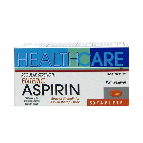 Wholesale Health Care Regular Strength Enteric Coated Aspirin Tabs