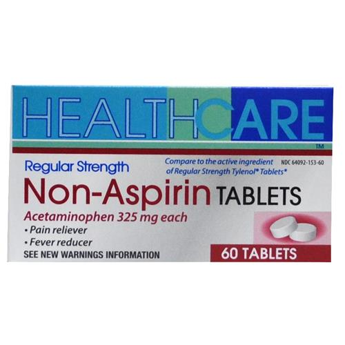 Wholesale Health Care Regular Strength APAP 325mg Tablets  (Tylenol)