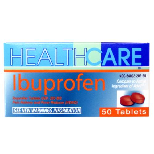 Wholesale Health Care Ibuprofen 200MG Brown Tabs