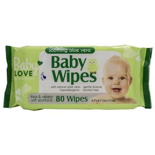 Wholesale BABY LOVE BABY WIPES WITH ALOE VERA 80CT