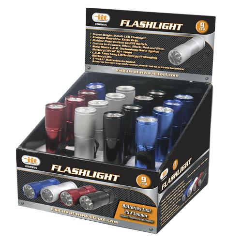 Wholesale 9 LED Flashlight