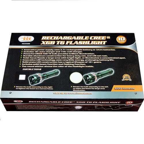 Wholesale RECHARGABLE CREE T6 FLASHLIGHT
