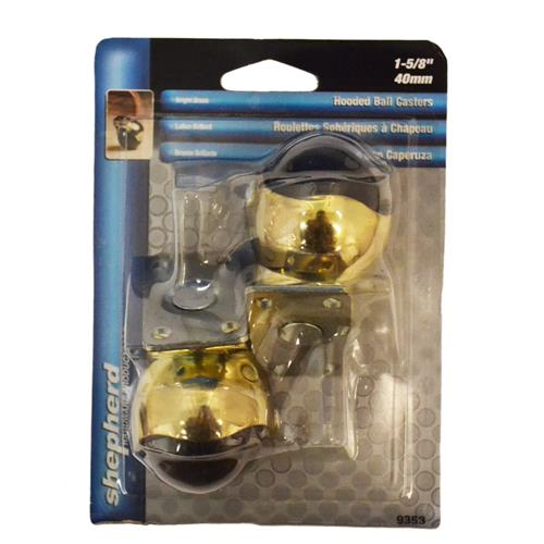 """Wholesale 2PK 1-5/8"""" HOODED BALL CASTERS"""