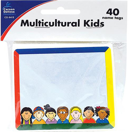 Wholesale 40ct NAME TAGS -MULTICULTURAL