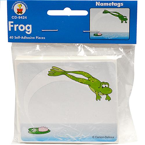 Wholesale 40CT FROG NAMETAGS