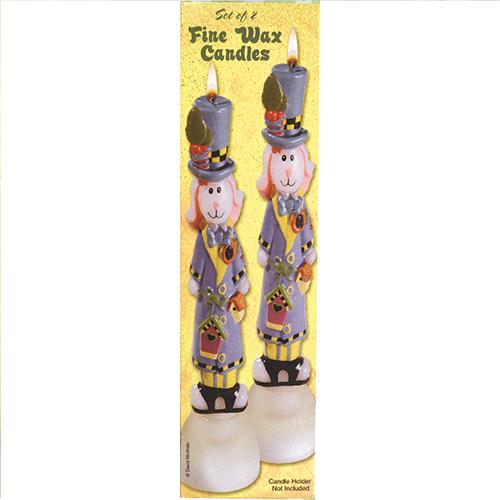 "Wholesale 2pc 10"" WAX BUNNY CANDLES"