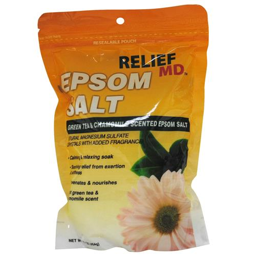 Wholesale Relief MD Epsom Salt Green Tea and Chamomile Scent