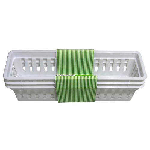 "Wholesale Organizing Trays 10.25x3x3.5""- White"