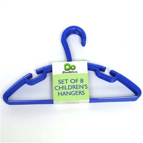 Wholesale Children's Hangers Assorted Colors Set of 8