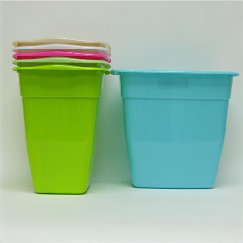 Wholesale Trash Can Assorted Colors 12x8.25x11""