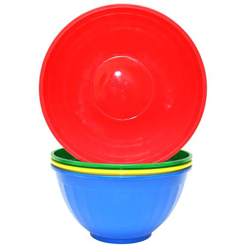"Wholesale Round Plastic Serving Bowls Assorted Colors 11.5"" x 6"""