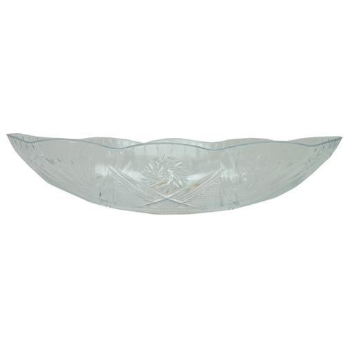 "Wholesale Clear Oval Styrene Bowl 12.3"""" x 6.5"""" x 2.4"""""