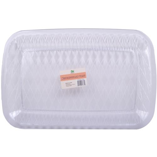 "Wholesale Rectangular Serving Tray 16.5"""""""" x 11"""""""" Clear"