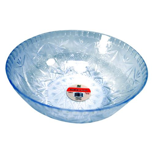 "Wholesale Crystal Bowl Clear Plastic 11.5"" Diameter - Holds 160 oz - in PDQ Display"
