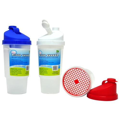 Wholesale Mixer/Shaker Frosted with Lids & Strainer