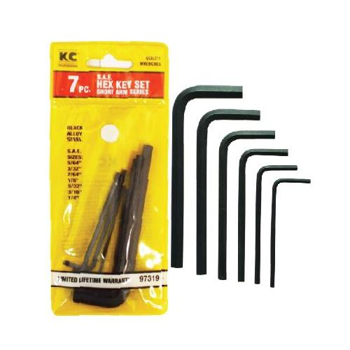 Wholesale 7PC HEX KEY SET SAE SHORT ARM