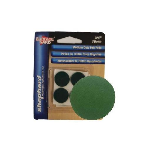 "Wholesale 12PK 3/4"" ROUND FELT PADS GREEN"