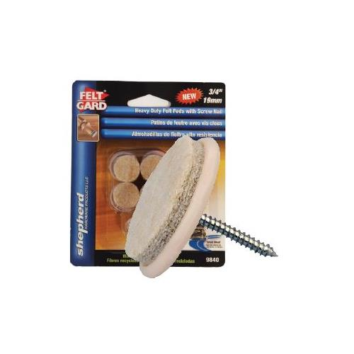 "Wholesale 8PK 3/4"" FELT PADS WITH SCREW NAILS & DRILL BIT"