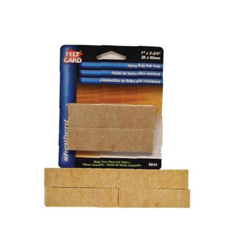 "Wholesale 4PK FELT PADS 1x3-3/4"" SELF AD"