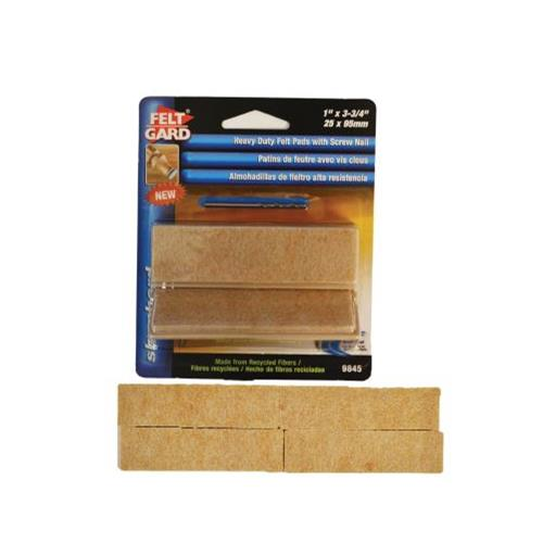 "Wholesale 4PK 1x3-3/4"" FELT PADS WITH SC"