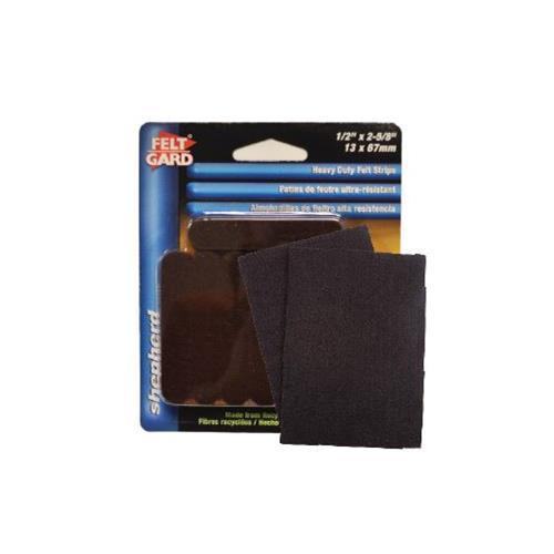 "Wholesale 16PK FELT STRIPS 1/2x2-5/8"" SELF ADHESIVE"