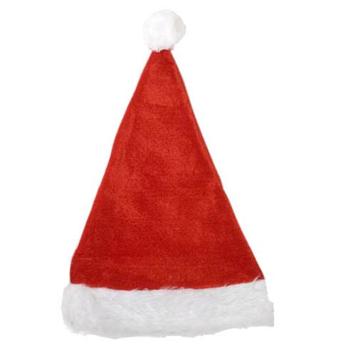 Wholesale Deluxe Red and White Santa Hat 15""