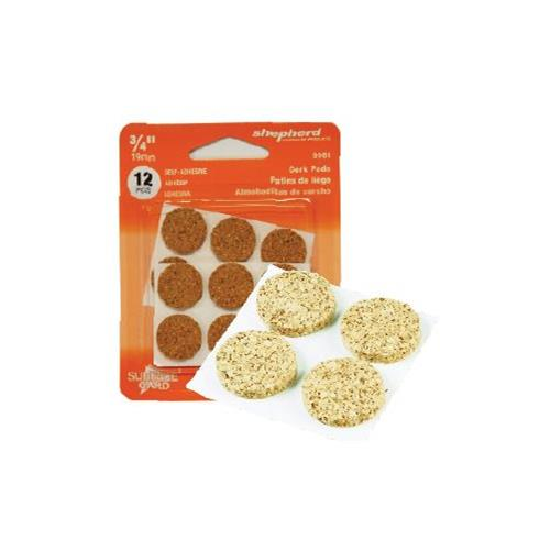 "Wholesale 12CT 3/4"" CORK PAD PROTECTORS SELF ADHESIVE"
