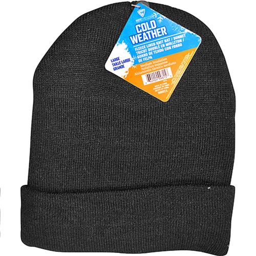 Wholesale Winter Hat Beanie Style Fleece Lined Knit.