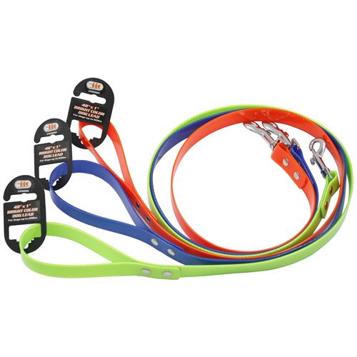 "Wholesale 48"" x 1"" BRIGHT COLOR DOG LEAD"