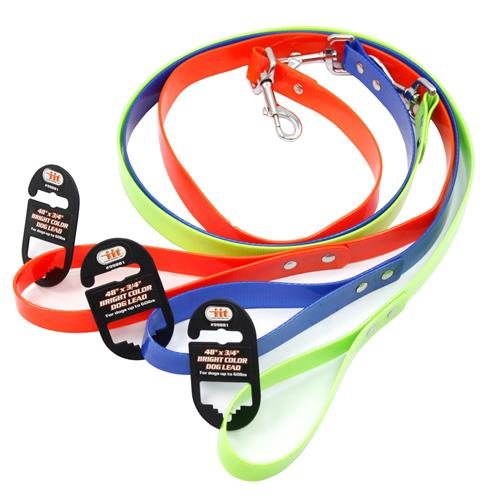 "Wholesale 48""x3/4"" BRIGHT COLOR DOG LEAD"
