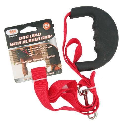 """Wholesale Dog Lead With Rubber Grip 40"""""""