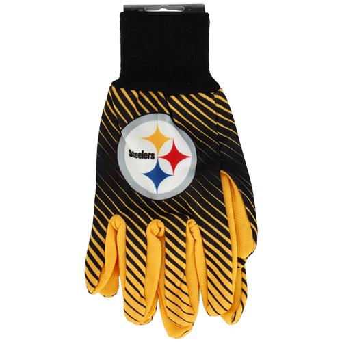 Wholesale NFL STEELERS SPORT UTILITY GLOVES WITH DOTS