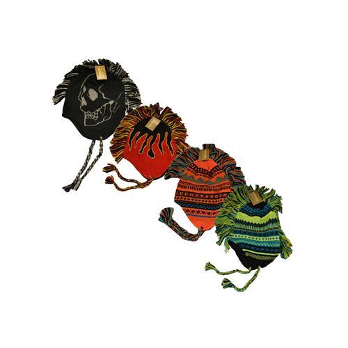 Wholesale ZKIDS KNIT MOHAWK HATS ASSORTED