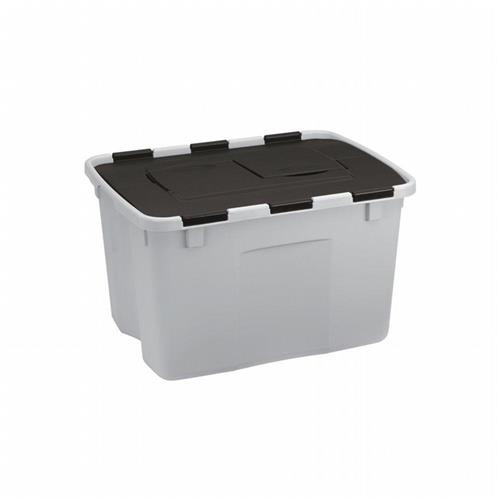 Wholesale 18 GALLON TOTE FLIP TOP GREY &