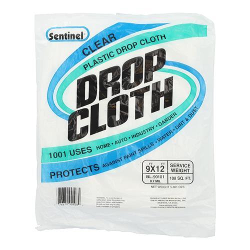 Wholesale 9x12'  PLASTIC DROP CLOTH 7 MIL