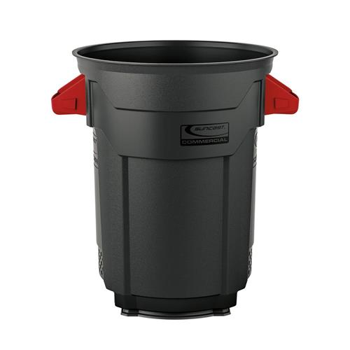Wholesale 20 GAL COMMERCIAL TRASH CAN GREY/RED