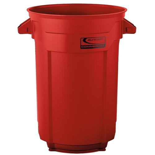 Wholesale 32 GAL COMMERCIAL TRASH CAN RED