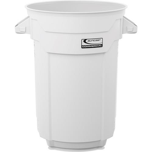Wholesale 32 GAL COMMERCIAL TRASH CAN WHITE