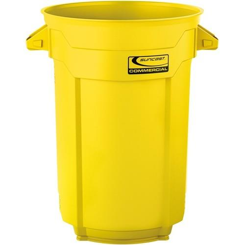 Wholesale 44 GAL COMMERCIAL GARBABE CAN YELLOW