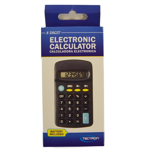 Wholesale 8 DIGIT POCKET CALCULATOR & PHILIPS AA BATTERY