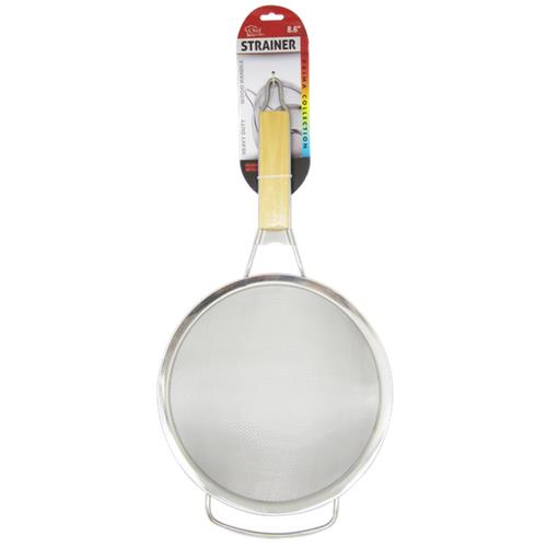"""Wholesale 8.6"""" Wooded Handle Strainer"""