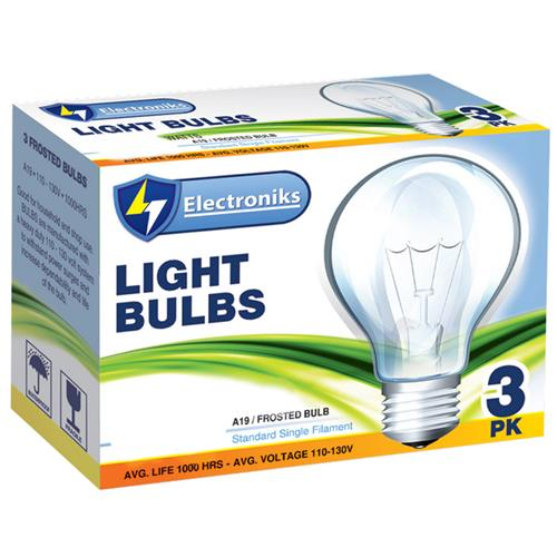 Wholesale 3PK 90WATT FROSTED LIGHTBULBS