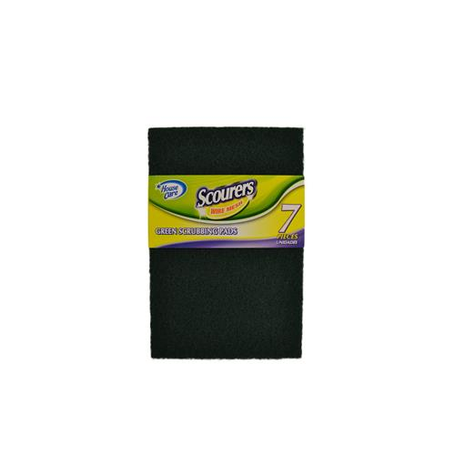 Wholesale 7ct GREEN SCOURING PADS