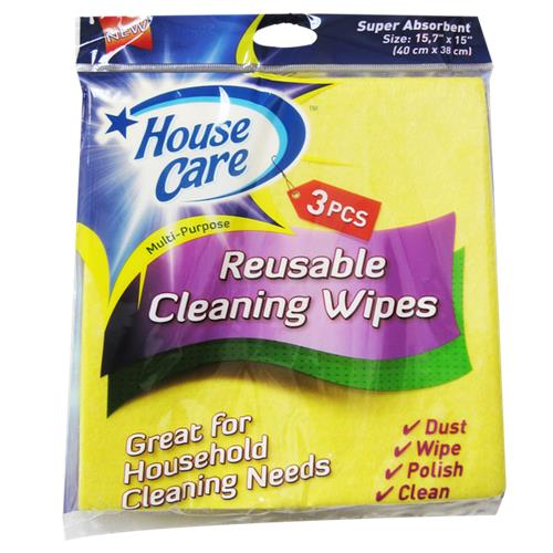 Wholesale 3 Piece Yellow Cleaning Wipes