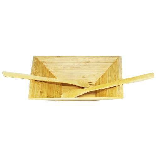Wholesale Bamboo Salad Bowl Plus Utensils