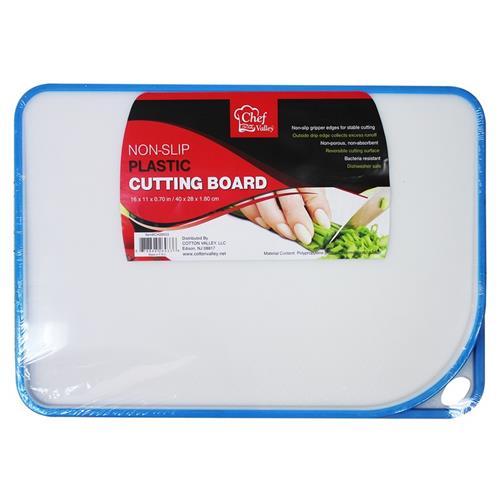 Wholesale NON-SLIP PLASTIC CUTTING BOARD 16x11''