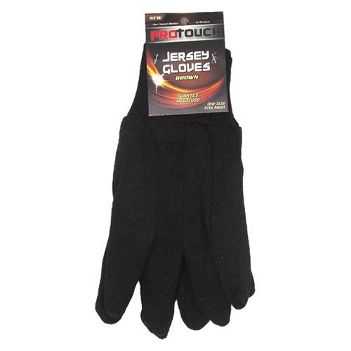 Wholesale BROWN JERSEY GLOVES - 1 PAIR