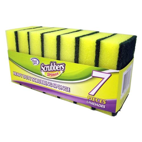 Wholesale 7PK HEAVY DUTY SPONGE SCOURER